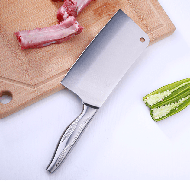 Chef's 19cm SUS304 Stainless Steel Unibody Cleaver/Chopper/Butcher Knife Multipurpose Use, HippoMart - HippoMart.SG - Premium Item at Direct Factory Price