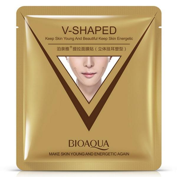 BIOAQUA 2 in 1 V-Shape Facial Slimming & Moisturising Mask (4pcs in a pack), DionCare - HippoMart.SG - Premium Item at Direct Factory Price