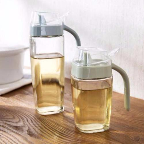 EZ Oil/Vinegar/Sauce Food Grade Glass Spout Container with Lid