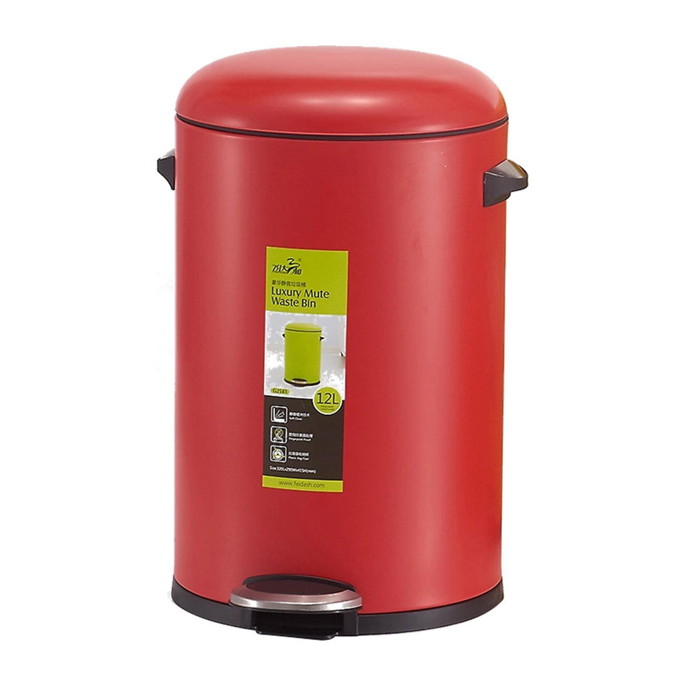 Oscar Step Bin- 8L (Red), DASH - HippoMart.SG - Premium Item at Direct Factory Price