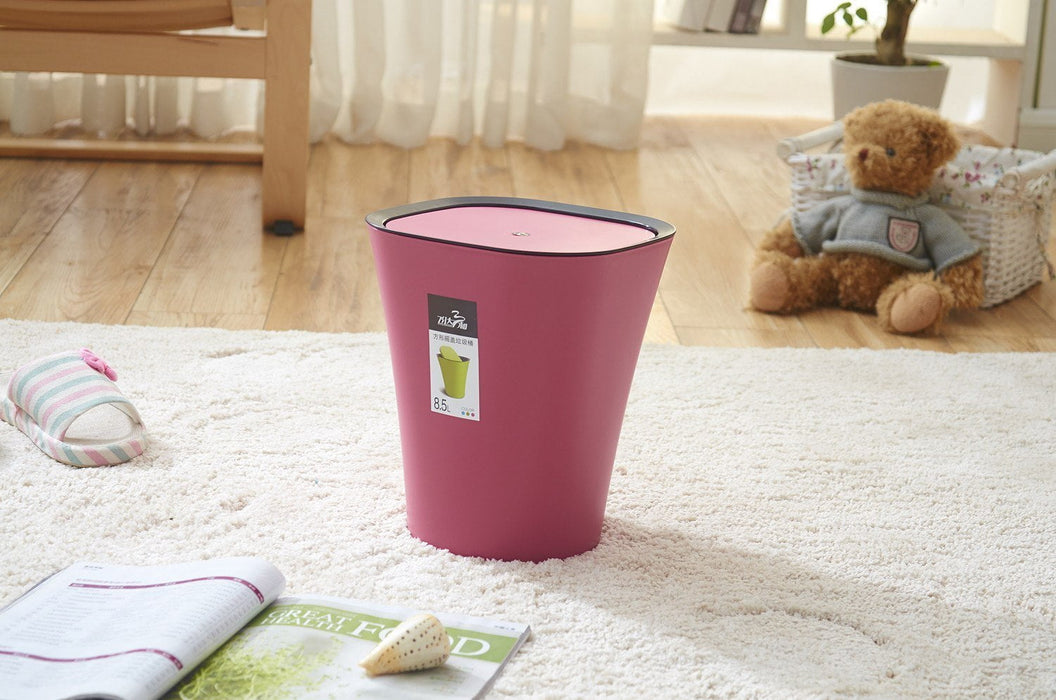 Genie Flip Bin - 8.5L (PINK), DASH - HippoMart.SG - Premium Item at Direct Factory Price