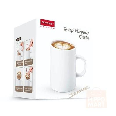 Creative Barrista Mug Toothpick Dispenser, Hippomart - HippoMart.SG - Premium Item at Direct Factory Price