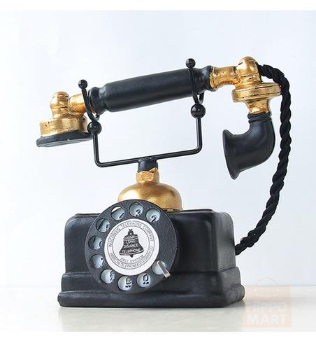Handmade Replica Vintage Telephone Decor for Home/Bar/Restaurant, Hippomart - HippoMart.SG - Premium Item at Direct Factory Price