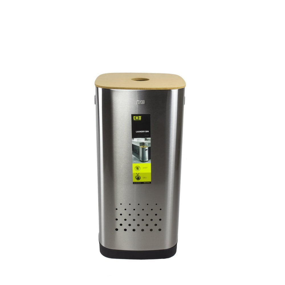 EKO Stainless Steel Modern Laundry Bin - 50L, EKO - HippoMart.SG - Premium Item at Direct Factory Price