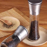 Industrial Grade 304 Brushed Stainless Steel Salt & Pepper Grinder (Set of 2)