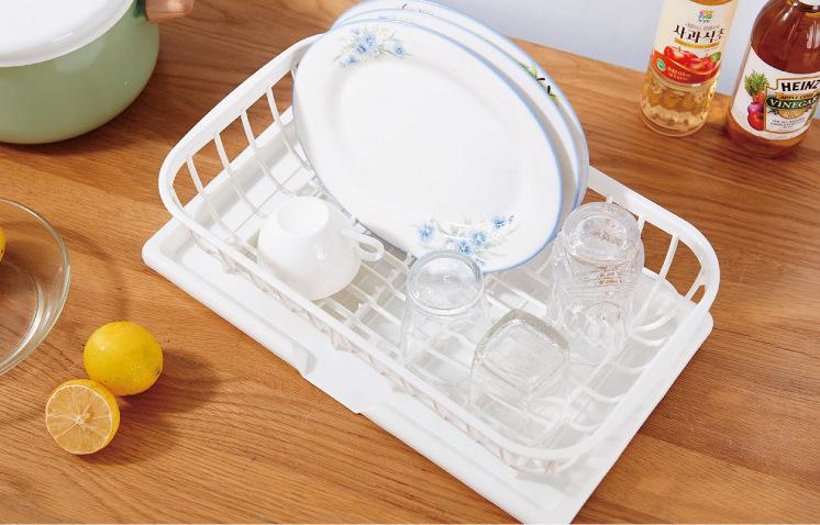 Japan Import Kanako Plastic Modular Dish Drying Rack with Drainage Board, HippoMart  - HippoMart.SG - Premium Item at Direct Factory Price