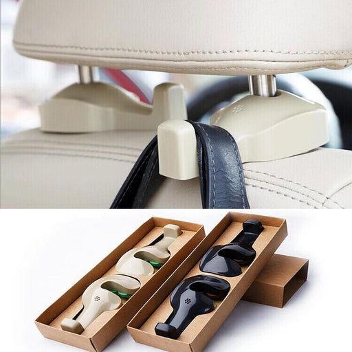 Idea Life Premium In-Car Headrest Hanger Hook (Set of 2) - Beige, Hippomart - HippoMart.SG - Premium Item at Direct Factory Price