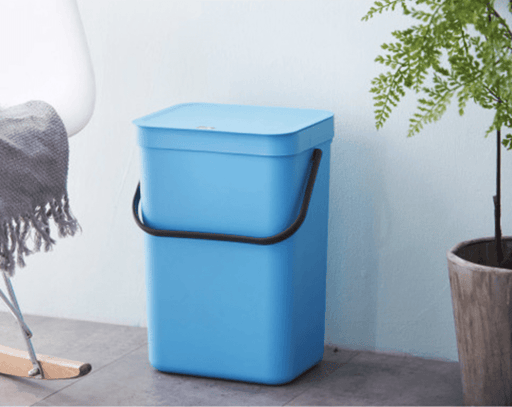 Matt Unibody Premium Plastic Waste Bin 21L - Blue, HippoMart - HippoMart.SG - Premium Item at Direct Factory Price