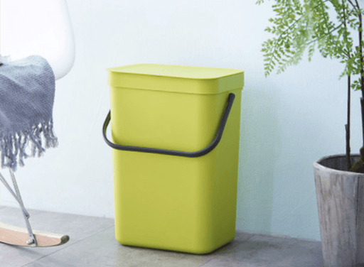 Matt Unibody Premium Plastic Waste Bin 21L - Green, HippoMart - HippoMart.SG - Premium Item at Direct Factory Price