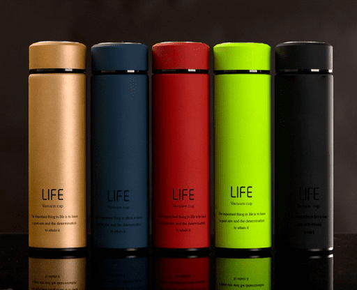 Insulated Vacuum Double Wall Non-Slip Travel Thermal Bottle with Tea Infuser 500ml - Maroon, HippoMart - HippoMart.SG - Premium Item at Direct Factory Price