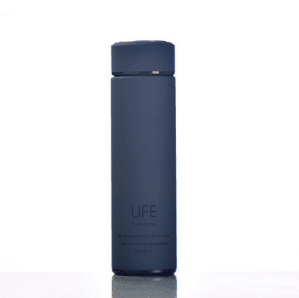 Insulated Vacuum Double Wall Non-Slip Travel Thermal Bottle with Tea Infuser 500ml - Dark Blue, HippoMart - HippoMart.SG - Premium Item at Direct Factory Price