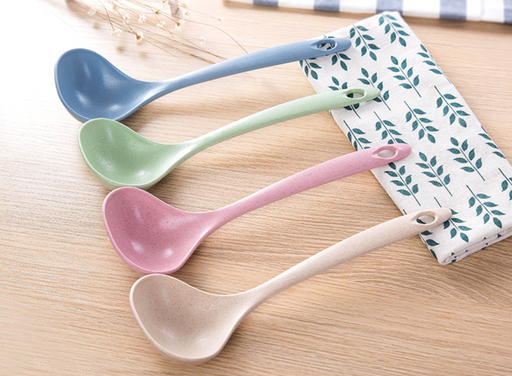 Natural Wheat Biodegradable Non-Toxic Large Soup Ladle