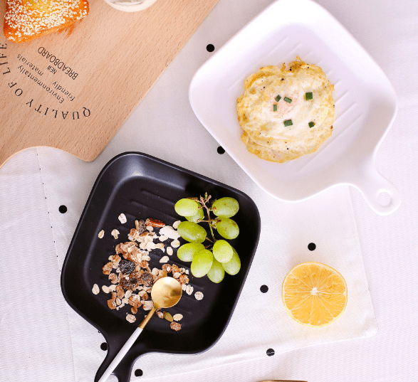 Zakka Ceramic Baking/Serving Pan - Black, HippoMart  - HippoMart.SG - Premium Item at Direct Factory Price