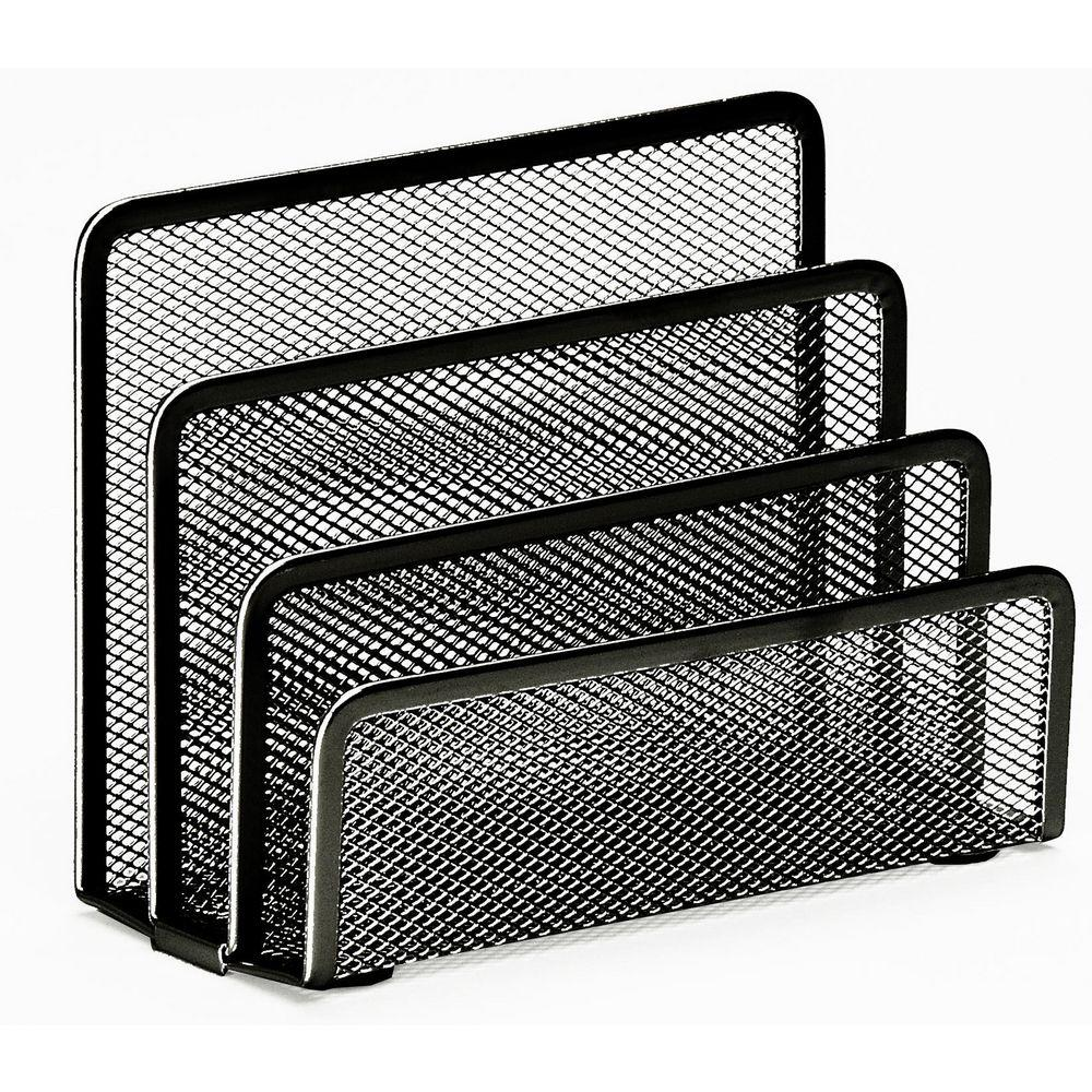 Modeco Office Stationery Wire Mesh Letter/Notes Holder - Black, HippoMart  - HippoMart.SG - Premium Item at Direct Factory Price