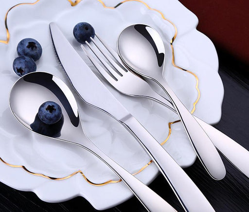 Elegant SUS304 Stainless Steel Silverware/Cutlery/Flatware Boxset - 12 piece for 4 Pax, HippoMart  - HippoMart.SG - Premium Item at Direct Factory Price