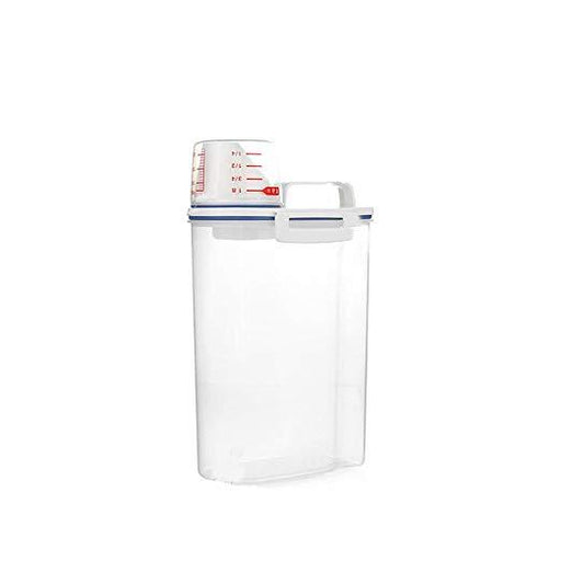 Japan Import Grain/Cereal/Dry Goods Airtight Container with Measuring Cup & Top Handle - 2kg, HippoMart  - HippoMart.SG - Premium Item at Direct Factory Price