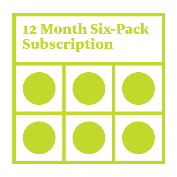 Six-Pack Subscription - 12 Months
