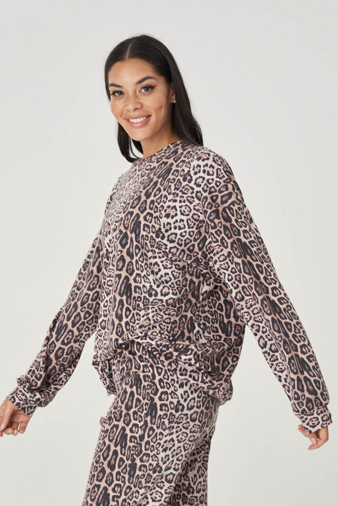 ONZIE Boyfriend Sweatshirt Leopard | Shop Onzie at SPORTLES.com