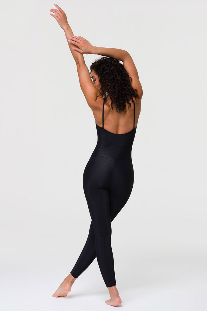 ONZIE Ribbed Leotard Black - sportles.com