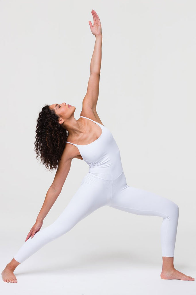 ONZIE Ribbed Leotard White - Sportles.com