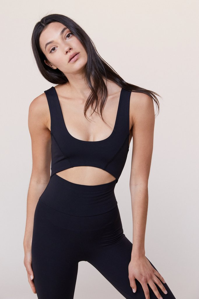LIVE THE PROCESS Cut Out Bodysuit Black | Shop at SPORTLES.com
