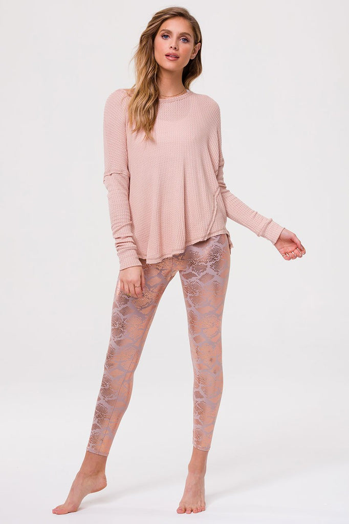 ONZIE Foil Midi Legging Bashful Snake | New Collection | Shop SPORTLES.com