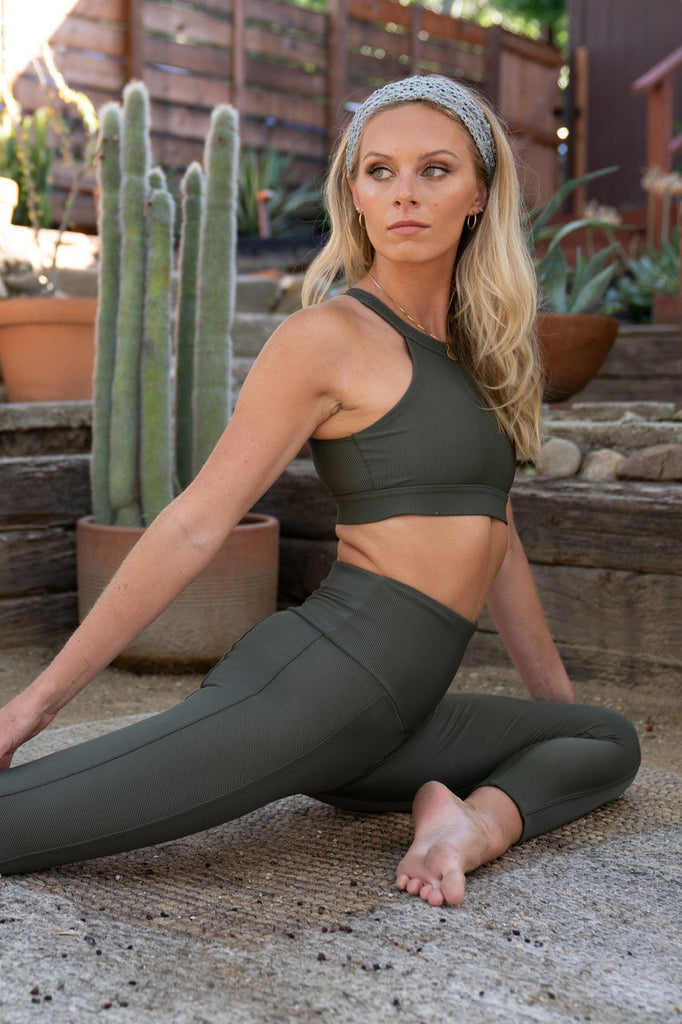 ONZIE Sweetheart Midi Olive Rib | Shop New Collection SPORTLES.com