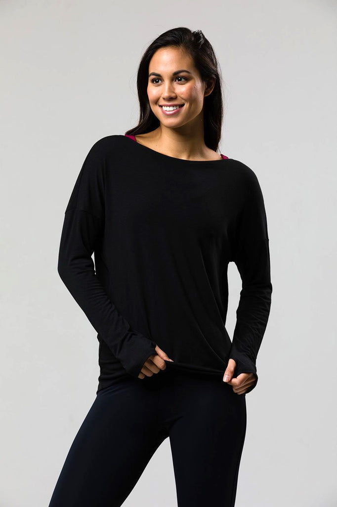 ONZIE Diamond Back Top Black | Shop Premium Loungewear SPORTLES.com