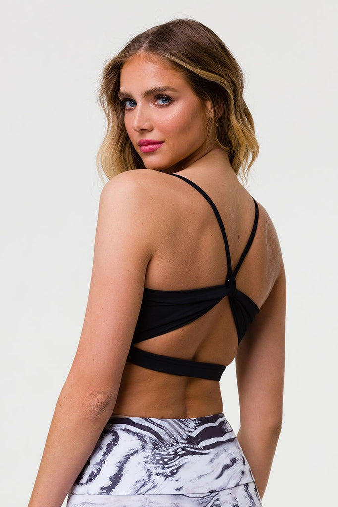 ONZIE Bow Bra Black - SPORTLES.com