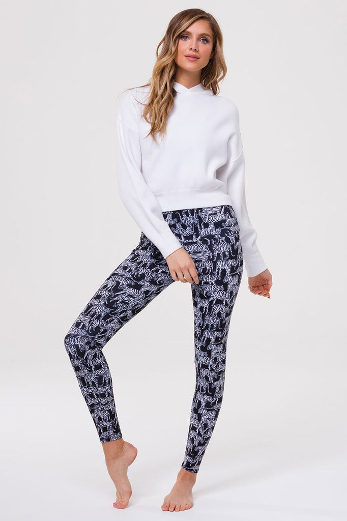 ONZIE Cropped Hoodie White | Shop Onzie Lounge at SPORTLES.com