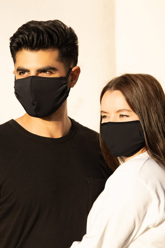 ONZIE Mindful Face Masks 2 Pack Unisex Black
