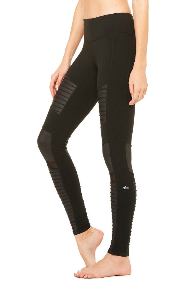 ALO YOGA - ALO YOGA High Waisted Moto Leggings - SPORTLES.com