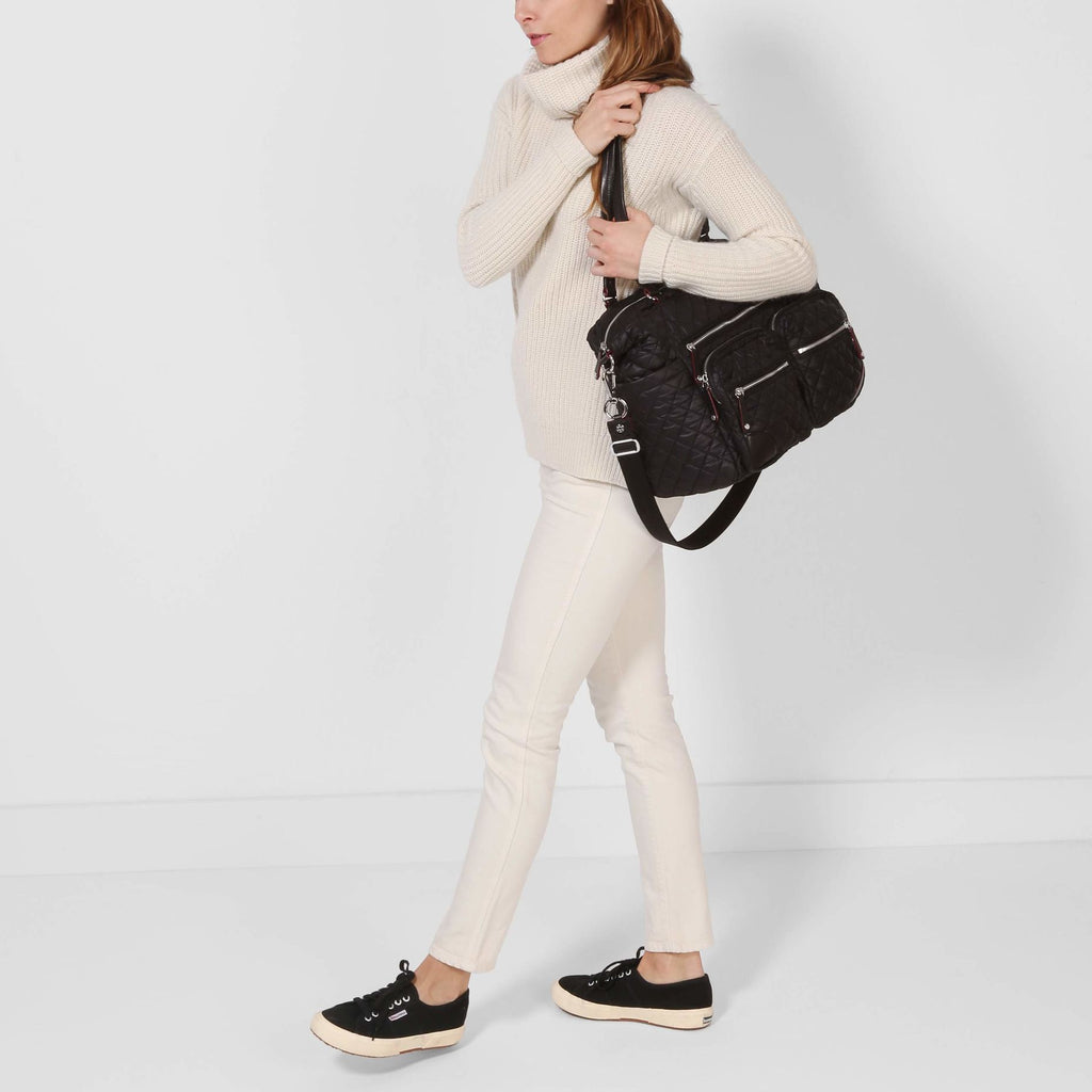 MZ WALLACE - MZ WALLACE Crosby Traveler Black - SPORTLES.com
