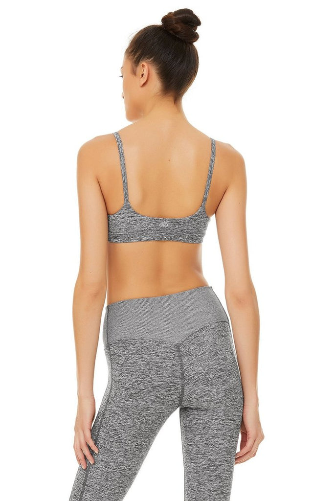ALO YOGA Alosoft Lounge Bra Dove Grey Heather | Shop Online SPORTLES.com