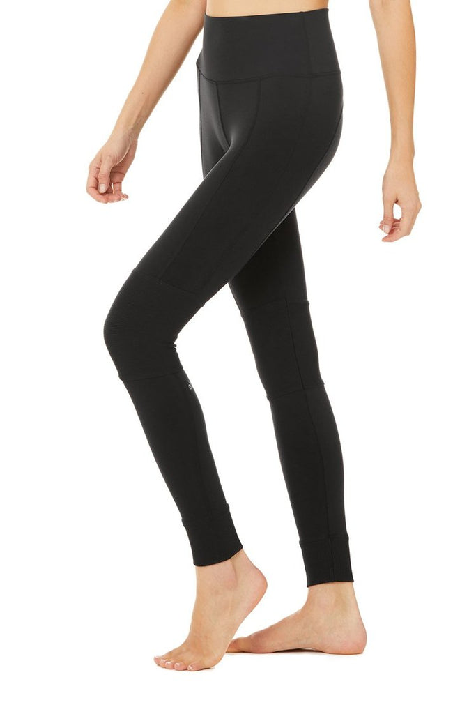 ALO YOGA High-Waist Avenue Legging Black | Shop Online SPORTLES.com