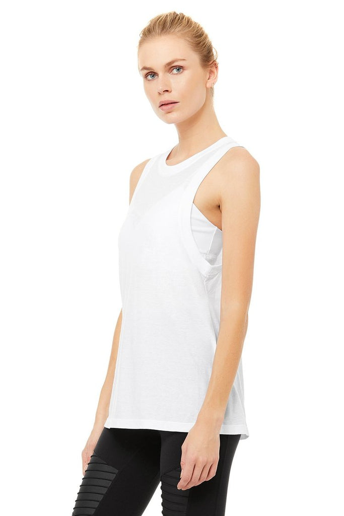 ALO YOGA Model Tank White | Shop at Sportles.com