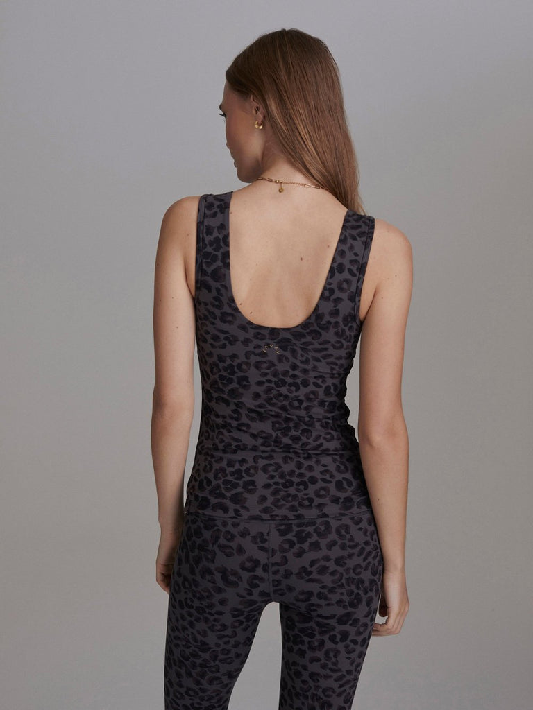 VARLEY Aletta Vest Iron Grey Cheetah | Shop Premium Activewear SPORTLES.com