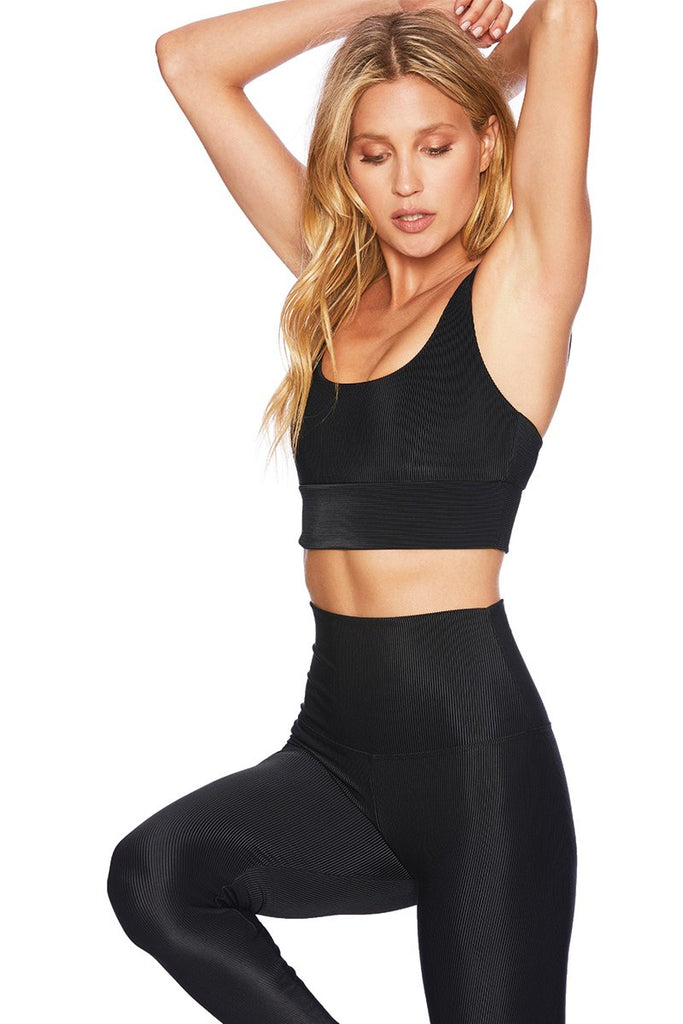 BEACH RIOT Leah Top Black | Shop at Sportles.com