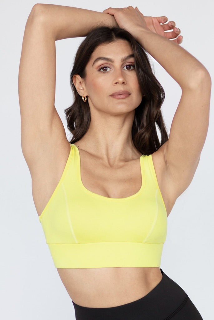 MICHI Basel Longline Bra Electric Yellow | Shop Online Premium Activewear SPORTLES.com