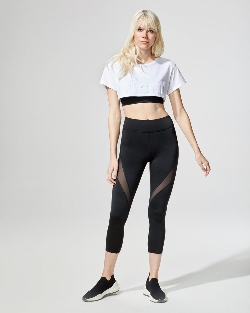 Shop Online Michi Flash Crop Top White - SPORTLES.com