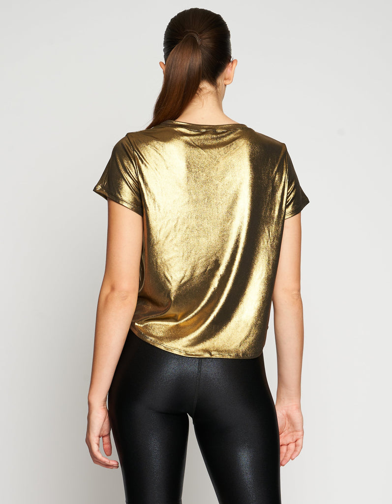 HEROINE SPORT Mercury Tee Gold | Shop at SPORTLES.com