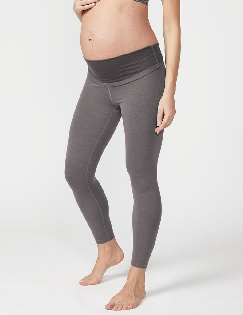 BEYOND YOGA Heather Rib Maternity Midi Legging - Shop at Sportles.com