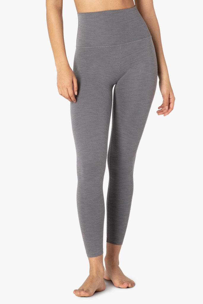 BEYOND YOGA Heather Rib High Waist Midi Legging - Shop at Sportles.com