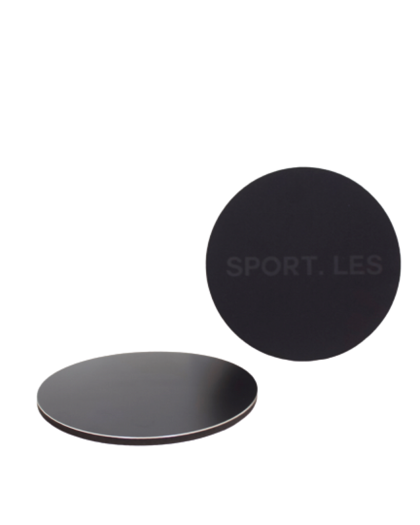 LES FIT Sliders Black | Shop Luxury Fitness Accessories | SPORTLES.com