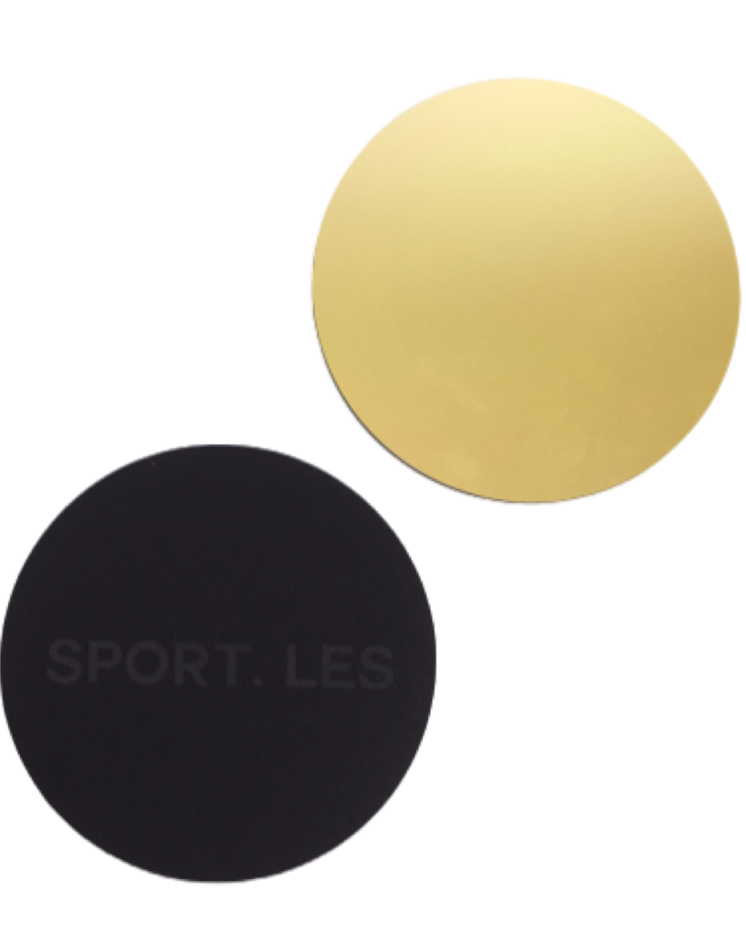 LES FIT Sliders Gold | Shop Luxury Fitness Accessories | SPORTLES.com