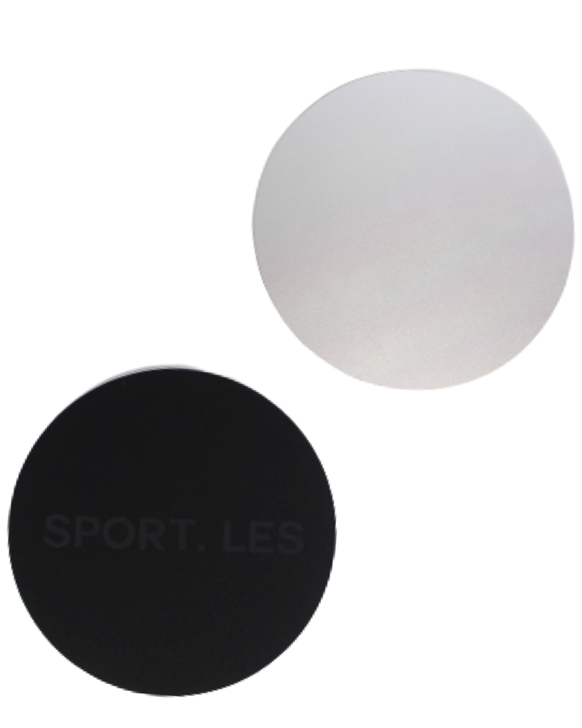 LES FIT Sliders Silver | Shop Luxury Fitness Accessories | SPORTLES.com