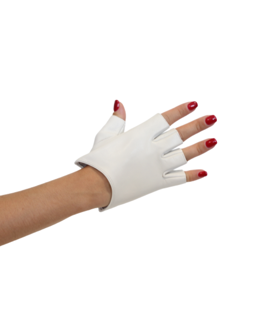LES FIT Cycle Gloves White | Shop Luxury Fitness Accessories | SPORTLES.com