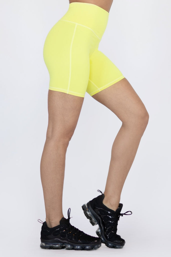 MICHI Instinct Bike Short Electric Yellow | Shop Online SPORTLES.com