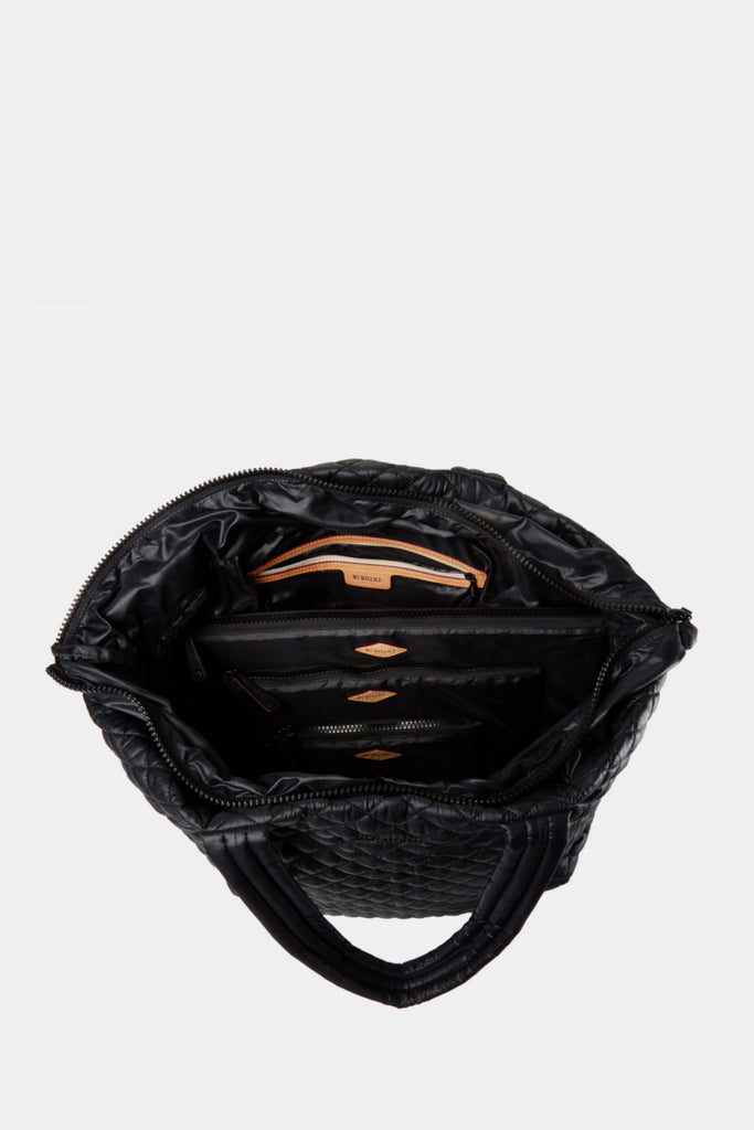 MZ WALLACE Large Metro Tote Black inside- sportles.com