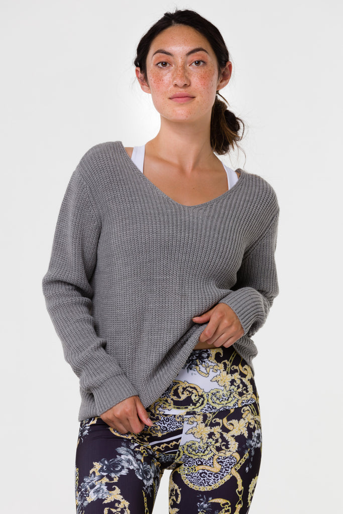 ONZIE Ballet Sweater Grey - SPORTLES.com